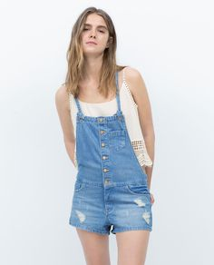 Image 2 of SHORT DUNGAREES from Zara
