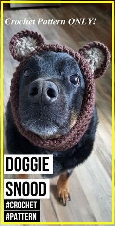 Crochet Doggie Snood Pattern - easy crochet dog-hat pattern for beginners Crochet Doggie Snood Pattern - easy crochet dog-hat pattern for beginners Hi. crochet dog Crochet Doggie Snood Pattern - easy crochet dog-hat pattern for beginners Crochet Dog Hat Free Pattern, Snood Pattern, Crochet Snood, Crochet Dog Sweater, Easy Crochet, Crochet Pet, Crochet Patterns, Crochet For Dogs, Crochet Jacket