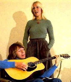 The ABBA members at the Polar offices in the autumn of 1975.