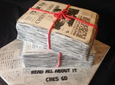 Read all about it Newspaper Cake