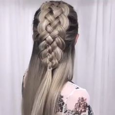 51 Amazing Braided Hairstyles for Long Hair for Every Occasion Girly Hairstyles, Braided Bun Hairstyles, Wedding Hairstyles, Cool Braids, Braids For Short Hair, Short Hair Styles, Five Strand Braids, Grunge Hair, Hair Videos