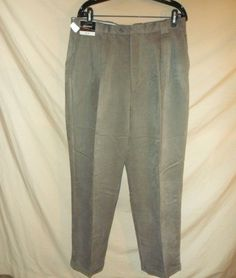 VINTAGE NEW 90's J. Riggings Men's Dress Pants Pleated Cuffed Gray-34x32 #JRiggings #DressPleat