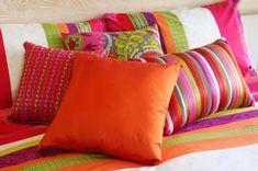 Me encanta esta combinación de colores en cojines!