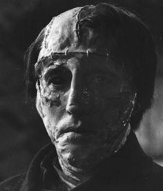THE CURSE OF FRANKENSTEIN (1957) - Christopher Lee as Baron Frankenstein's monster - Produced by Hammer Films - Warner Bros. - Publicity Still.