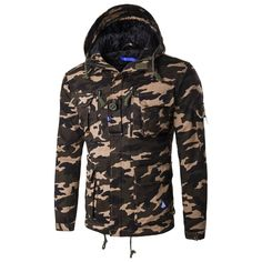 (44.98$)  Watch now - http://aicov.worlditems.win/all/product.php?id=32776874233 - Camouflage Parkas Men Jacket military medium-long winter coat men thickening cotton-padded winter jacket men with hood Clothing