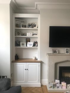 Bespoke Alcove Storage - Fitted Furniture by Alcove Designs Built In Cupboards Living Room, Alcove Storage Living Room, Alcove Shelving, Living Room Built Ins, Living Room Shelves, Home Living Room, Living Room Decor, Alcove Decor, Bedroom Alcove