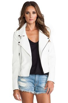 0af147d17df63 Lovers + Friends Babe Moto Jacket in White from REVOLVEclothing Revolve  Clothing