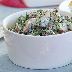 Creamy Potato Salad with Lemon and Fresh Herbs Recipe  at Epicurious.com