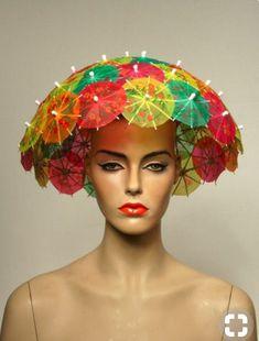 53 Ideas For Hat Crazy Headdress hats 53 Ideas For Hat Crazy Headdress Crazy Hat Day, Crazy Hats, Sombreros Fascinator, Fascinators, Headpieces, Hut Party, Wacky Hair Days, Diy Hat, Fancy Hats