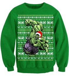 HULK SMASH CHRISTMAS SPECIAL UGLY XMAS JUMPER SWEATER SWEATSHIRT MULTIPLE COLOUR #Unbranded #Sweatshirt