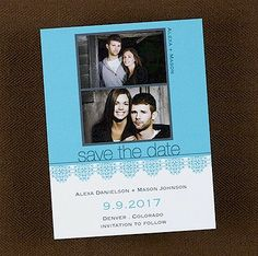 Photo Florals Save the Date CARD