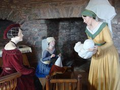 Birth of Henry VII tableau in Pembroke Castle- King Henry VII was born January 28th, 1457.