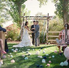 pom poms as aisle decor! | CHECK OUT MORE IDEAS AT WEDDINGPINS.NET | #weddings #diyweddings #diy