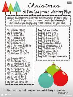 30 day Scripture Writing plan