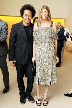 Patrick Robinson and Virginia Smith at the CFDA/Vogue Fashion Fund Awards.