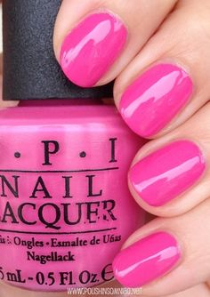 OPI Suzi Has A Sweet Tooth *awesome shade of pink* Cute Pink Nails, Cute Nail Art, Fancy Nails, Pretty Nails, Opi Nails, Manicure And Pedicure, Nail Polishes, Nail Nail, Stiletto Nails