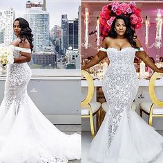 New Mermaid Sexy Wedding Dress White/Ivory Bridal Gown Custom Made Plus Size2-28