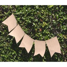 Burlap Banners 48 PC Pennant Flags Pack Rustic Hanging Swallowtail Bunting Cr