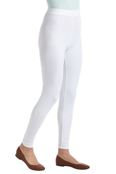 Our Leggings are ideal under a dress or tunic. Zinc oxide embedded in the cotton blend fabric provides lasting sun protection.  Leggings: Sun Protective Clothing - Coolibar