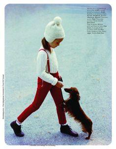 """""""Martine a la ferme"""": Benoit Peverelli for Vogue Paris Enfants"""