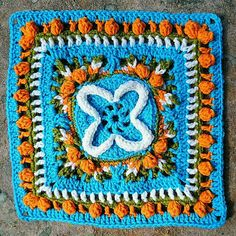 This square invites us to celebrate a wedding in a Kalevala way. Let us toast to the fact that we have now three quarters of our squares ready! Photo by Minna V Crochet Bunting, Ravelry, Mandala, Diagram, Bird, Blanket, Yarns, Squares, Ideas