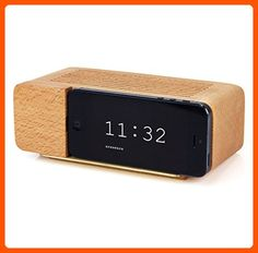 Areaware Decorative Alarm Dock for iPhone 5, Natural Beechwood - Made of wood (*Amazon Partner-Link)