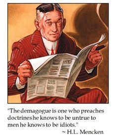 H.L. Mencken on Demagogues