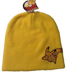 74acddded0c Pokemon Pikachu Yellow Slouch Beanie Skull Cap Hat Licensed  Beanie