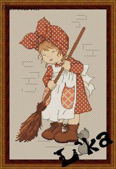 "Схема для вышивки крестом. Cross stitch pattern. ""Золушка"""