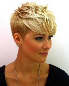 By Haylee Kaiser. Short BLONDE Hair Color. #Blonde #ShortHair #PixieCut #MediumBlonde #TrendyStyle #Color @Bloom.com