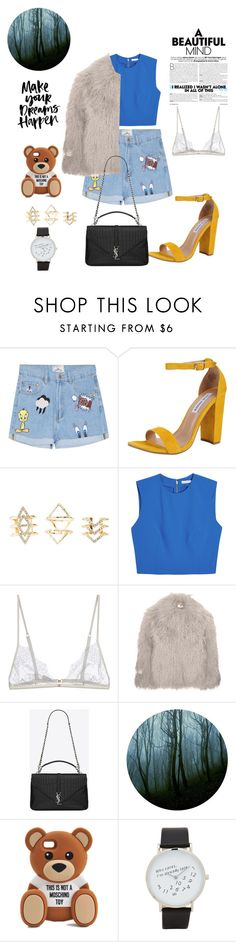 """Are we Out Of The woods?"" by bubbleswonderland ❤ liked on Polyvore featuring Steve Madden, Charlotte Russe, Alice + Olivia, Christies, STELLA McCARTNEY, Yves Saint Laurent, Moschino and ALDO"