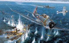 World War II, McDonnell Douglas, Dauntless, Dive Bomber, Pacific, Military Aircraft HD Wallpaper Desktop Background