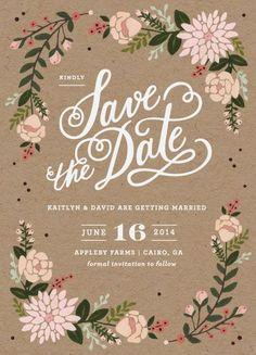 ♥♥♥  DIY: Save the Date com um Designer Gráfico virtual Extra, extra! Pessoal…