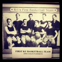 Dr. Naismith's First Jayhawk Basketball Team Pic - want to find this pic and other vintage basketball prints for Aidan's room.
