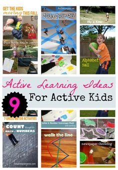 Awesome active learning ideas to tire out kids. From Handsonaswegrow