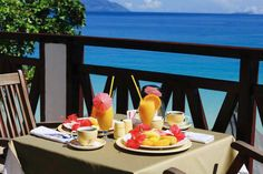 Breakfast on the veranda...