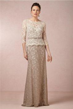 Sexy Scoop Neckline Brides Mother Dresses for Weddings vestido para mae da noiva 2014 Long Lace Evening Gowns