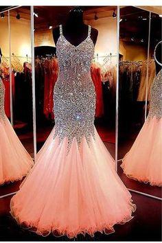 Open Back Prom Dresses #OpenBackPromDresses, Prom Dresses 2018 #PromDresses2018, Mermaid Prom Dresses #MermaidPromDresses