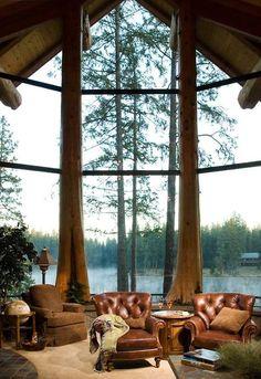 gorgeous cabin interior.