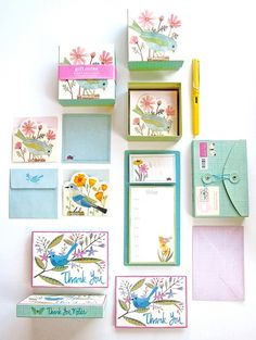 pretty stationery by geninne - love this artist - she has a great blog! http://blogdelanine.blogspot.com/