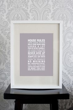 8x10 Print House Rules In this house we do by pixelcloud on Etsy, $6.00