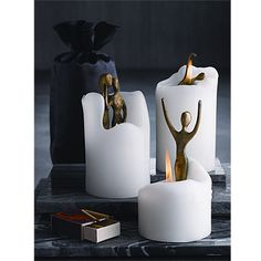 Look what I found at UncommonGoods: dance and embrace spirit candles... for $24 #uncommongoods