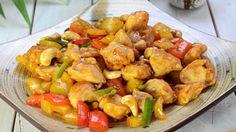 Tämä thairuoka sisältää paljon rapeita kasviksia ja terveellisiä pahkinöitä.