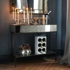 High & Low: Mirrored Consoles & Side Tables for Every Budget