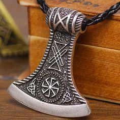 Slavic Perun Axe Pendant wih Kolovrat Rus Star Charm Perun Axe Amulet Pendants Drop Shipping