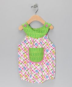 Take a look at this Yellow & Blue Daisy Bubble Bodysuit - Infant by Beary Basics on #zulily today!