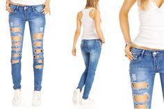 Destroyed used Slim Fit Röhrenjeans für Damen http://www.bestyledberlin.de/index.php/super-destroyed-roehrenjeans-skinny-fit-jeans-mit-zierrissen-j14k.html