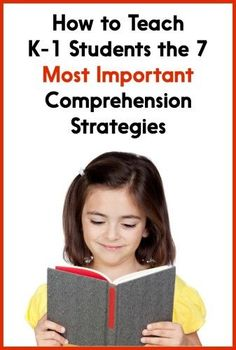 "Not sure how to teach reading comprehension strategies to your Kindergarten or first grade students? Read this post to learn which strategies are ""must teach"" and how to get the point across to your kiddos!"