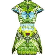 Mary Katrantzou Expandit printed silk satin-twill dress ($7,935) via Polyvore