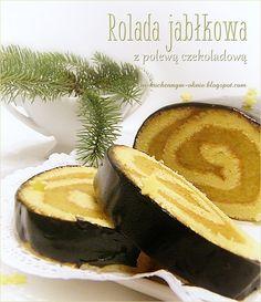 rolada jabłkowa z polewą czekoladową Camembert Cheese, Cakes, Food, Cake Makers, Kuchen, Essen, Cake, Meals, Pastries